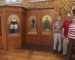 ROBERT K. YOSAY | THE VINDICATOR...St Patricks Church 100 Years old - l-r  Bill Crawford Tom Welsh Christine Crawford  and Elaine Welsh ..-30-
