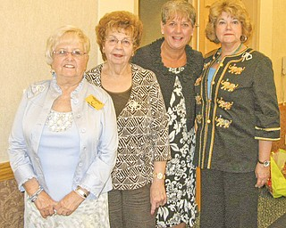 Three members of the Warren Republican Women's Club attended the Ohio Federation of Republican Women's Spring Conference in Dublin, Ohio, on April 30. There, the WRWC received the OFRW's Diamond Award for Achievement in 2010. The featured speaker at the event was Sue Lynch, president of the National Federation of Republican Women. From left to right are Carol Griffiths; Eddie Wolcott; Lynch; and Barbara Rosier-Tryon, WRWC president.