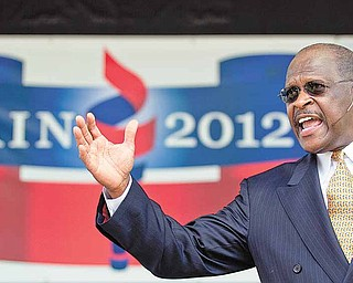 Herman Cain announces his run for Republican candidate for president at a rally Saturday, May 21, 2011 in Atlanta. Cain has run a pizza chain, hosted a talk radio show and sparred with Bill Clinton over health care. He's never held elected office. Now the tea party favorite wants to be president.