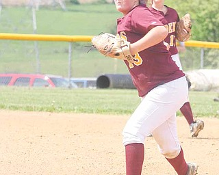 Madison Yanek is one of the South Range High softball team's pitchers. The Raiders defeated Ursuline on Saturday to win their second consecutive Division III district softball title. Olmsted Bulldogs at the Field of Dreams in Boardman.