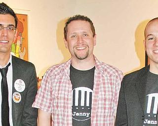 Chris Lettera, SLAA president, left, Chris Barzak, faculty adviser, and Andrew Whitmer, SLAA vice-president.