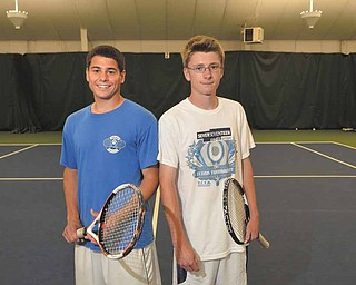 Poland tennis players Ken Duncan, left, and Garrett Gardner will compete in the state doubles tournament  for Division II on Friday at Hilliard Davidson. It's their first appearance at state.