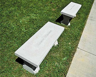 Volney Rogers Middle School students recently finished a garden memorializing Rogers, for whom their school is named and the founder of Mill Creek Park. Benches bearing his name are part of the feature.