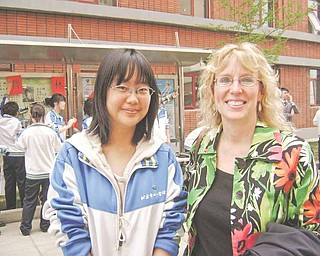 Louise Mason spent some time shopping with Coocan, a student at Bejing National Day School, who will study at Yale University in New Haven, Conn.