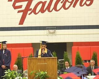 FITCH - Senior president Adam DelDuchetto speaks at Graduation Saturday morning. - Special to The Vindicator/Nick Mays