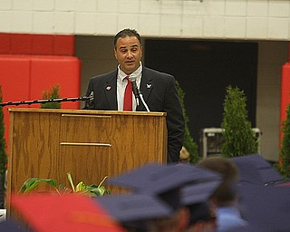 FITCH - Superintendent Vince Colaluca speaks at graduation Saturday morning at Fitch. - Special to The Vindicator/Nick Mays