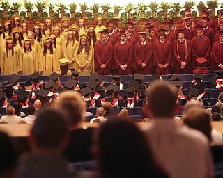 ROBERT  K.  YOSAY  | THE VINDICATOR --.Just some of the Scholarship winners  -.Cardinal Mooney's 53 Annual Commencement  at Stambaugh Auditorium . -30-..(AP Photo/The Vindicator, Robert K. Yosay)