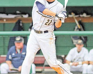 Akron center fielder Drew Turocy is set to swing during a recent game. The 2007 graduate of Canfield High was selected by the Boston Red Sox on Tuesday in the MLB Draft.