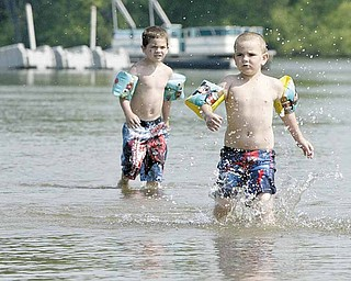 Mosquito Lake was a popular spot to try to beat the heat Wednesday. Hot and humid weather is expected to continue today.