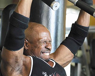 Competitive bodybuilder Keith Hunter, 51, works out at the Fitness Factory on Washington Avenue, where he is also a trainer, May 12, 2011, in St. Louis, Missouri. (Robert Cohen/St. Louis Post-Dispatch/MCT)