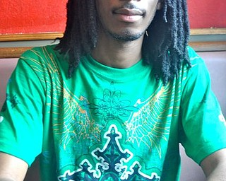 U.N.Act's Brandon Martin on Friday at Youngstown Soul Food.