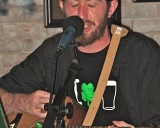 Matthew Boser of The Rogues of Rafferty at Quinlan's in Niles.