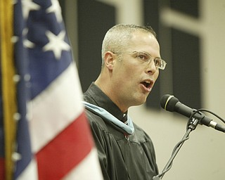William D Lewis the Vindicator  Girard HS principal williamRyser speaks during 2011commencement ceremony Sunday at GHS.