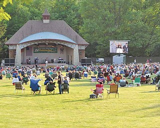 A large crowd gathered for the fi rst show of the 7-Up Summerfest Spectacular 2011 season that featured Boardman native Sarah Turner. A large-screen display gave the crowd that sat further away a nice view of the concert.