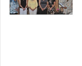 From left to right are Sandy Webber, treasurer; Connie Witt, secretary, Judi Allio, second vice president; Jenny Pike, first vice president; Lori Everly, president; and Mary Patterson, past president, at the May 24 induction of officers into the Columbiana Area Business and Professional Women's Club.