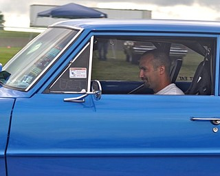 Nick Pauline drivers a 1966 Chevy Nova at the 2011 Steel Valley Super Nationals in Salem. It was the sixth year for the event at that location.