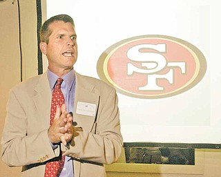 Jim Harbaugh, the new head coach of the San Francisco 49ers, was among the guests at the annual