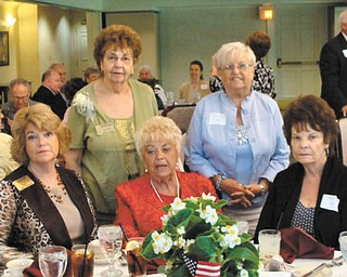 The Ohio Federation of Republican Women had its Tribute to Women honoree luncheon June 26 at Worthington Hills Country Club in Columbus. The Warren Republican Women's Club honoree was Mary Theis. In attendance, seated, from left, were Barbara Rosier-Tryon, WRWC president; Theis; and Dorie Harris, WRWC historian. Standing are Edwina Wolcott, N.E. District OFRW vice president; and Carol Griffiths, WRWC immediate past president.