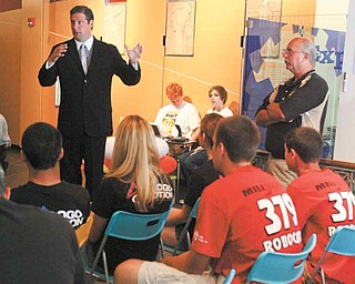 U.S. Rep. Tim Ryan of Niles, D-17th, talked about a bill to increase federal funding for programs such as robotics. Ryan discussed the proposal Tuesday with area robotics coaches and students at Oh Wow! The Roger and Gloria Jones Children's Center for Science & Technology in downtown Youngstown.