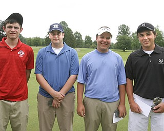 ROBERT K. YOSAY | THE VINDICATOR..AND the Qualifiers are ---- Bart Wyss Joey Canann -  James LaPolla - and   Dominic Patella ---- The Second Round of qualifiers for the  Best Jr. Golfer was held at Tamer Win in Cortland on Friday morning - .. ...-30-