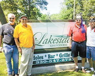 Akron Children's Hospital Mahoning Valley will benefit from the Aut Mori Grotto Monarch's Golf Outing, scheduled for July 23 at Lakeside Golf Course, 2404 S.E. River Road, Lake Milton. From left to right are some of those involved in the fundraiser: Gary Lippert, J.J. Losasso, Glenn McClain, chairman, and John Tyree. Registration begins at 7 a.m., and golf begins at 8. Lunch will be served at the turn, and a steak dinner and the presentation of prizes will conclude the day. Sponsorship opportunities are available. For more information contact McClain at 330-793-7458.
