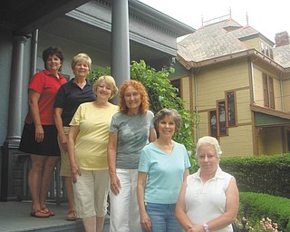 """Where 'History Meets Art': The committee for the Upton House fundraiser, """"History Meets Today's Art,"""" includes, from left, Darlene Gardiner, Darlene Bennett, Lynne Battles, Sophie Romack, Kathy Lepro and Susan Stoddart. """"History Meets Today's Art"""" is set from 2 to 5 p.m. Aug. 7 at Upton House, 380 Mahoning Ave. NW, Warren. The public is invited to enjoy light refreshments, wine tasting and music for the ticket price of $15. Tickets may be obtained by mailing checks to 1045 Eagle Trace Drive, Warren, OH, 44484. Preordered tickets will be available at the front door of Upton House on the day of the event. Activities also are planned that evening at Upton, where patrons will find music, refreshments and docents modeling wearable art designed by Trumbull Art Guild artists, who will be painting to live music in the Women's Park, across the street."""