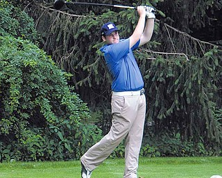 Joey Canann of Warren JFK qualifi ed for the championship round of Greatest Junior Golfer of the Valley golf tournament by shooting a 77 during a qualifer at Tamer Win Golf Course in Cortland on July 8. Canann will be a senior at JFK in the fall, but before he starts his last year of high school he is focused on winning the tournament today.