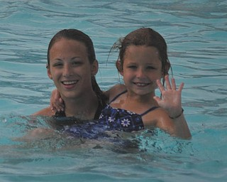 Pictured are Eden Lesnansky, 7, of Boardman, and her sister, Alana Lesnansky, 17, of Boardman.  Photo was submitted by the girls' father, George P. Lesnansky, Jr. of Youngstown..
