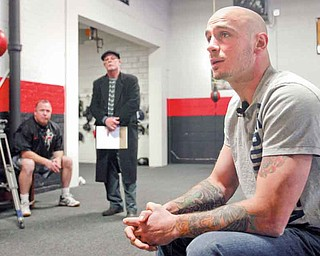 Kelly Pavlik talks to the media about his past couple of months and his future at Jack Loews Southside Boxing Club ..--30-..