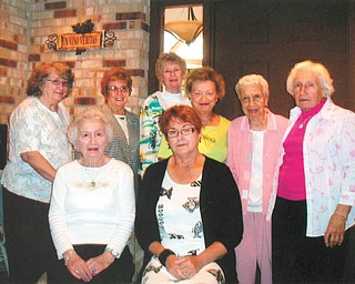 New leaders for retirees: The Trumbull Memorial Hospital Retirees Club recently installed these officers for the upcoming year: front row, from left, Vivian Abram, president, and Sandy Sarsany, vice president; and back row, from left, Shirley Reese and Linda Smith, board members; Kathryn Savu, treasurer; Patricia Swipas, secretary; Della Sabo, past president; and Barbara Nageotte, board member. For information regarding membership or meeting dates, call Abram at 330-759-7147.