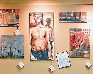 Displayed on the walls of the Gorant candy store in Austintown are paintings by various local artists. The gallery is run by Austintown Gorant store owner Lori Gavalier and Joyce Gottron.