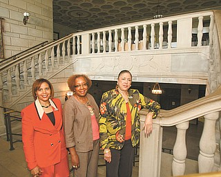 Robert K. Yosay | The Vindicator: Delta Sigma Theta Sorority's Youngstown Alumnae chapter will sponsor its annual Tribute to Black Excellence. The event will take place Sept. 23 at Stambaugh Auditorium in Youngstown. From left are members Susan Moorer, parliamentarian, Michele Dotson, Ways and Means Committee chairwoman, and Germaine Bennett.