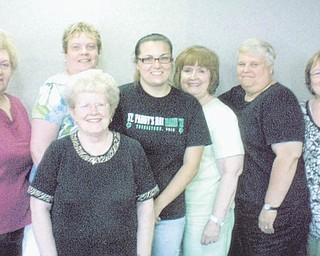 SPECIAL TO THE VINDICATOR: ABWA Network Council members represent three chapters in the area: Youngstown Charter Chapter, Tri-Gold Chapter and Mill Creek Chapter. From left are Sarah Janutolo, Mary Brown (rear), Judy Codespote, Mandy Alcorn of Alpha Omega Pi sorority at YSU, Donna Farmer, Darlene Demjen and Cathy Prokrivnak.