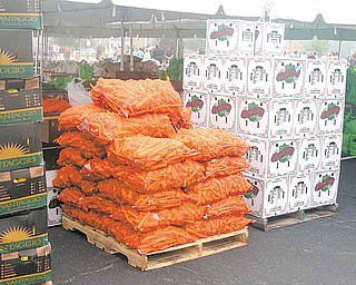 New Life Church, 2250 E. Western Reserve Road, sponsored its second annual  Goodness Invasion on Saturday, a free-food distribution, at the Covelli Centre, 229 E. Front St. The event last year drew about 2,000 people, organizers said. Pallets of food, top, were ready for distribution.