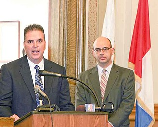 Capt. Rod Foley, left, will be Youngstown's next police chief, while Atty. Anthony Farris will be promoted from deputy law director to law director. Both appointments, made by Mayor Charles Sammarone, are effective Sept. 1.