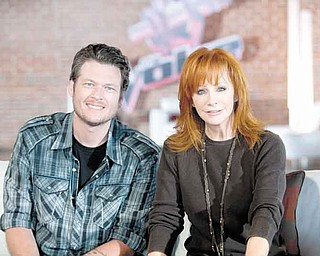 """THE VOICE -- """"Battle Selections"""" -- Pictured: (l-r) Blake Shelton, Reba McEntire -- Photo by: Lewis Jacobs/NBC"""