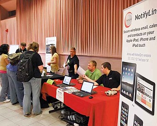 NotifyLink, a telecommunications system for mobile devices, drew interest during the event, which was designed to get students interested in careers in science, technology, engineering and math.