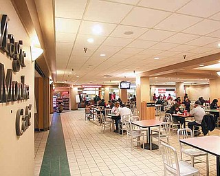 The food court in 20 Federal Place downtown has seen an increase in tenants and business in recent years. Youngstown will take over management of the offi ce building Dec. 1.