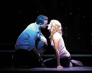 "In this theater publicity image released by The Hartman Group, Richard Fleeshman, left, and Caissie levy are shown in a scene from ""Ghost The Musical.""  ""Ghost The Musical""  is one of the new anticipated productions coming this season. (AP Photo/Sean Ebsworth Barnes, Sean Ebsworth Barnes)"