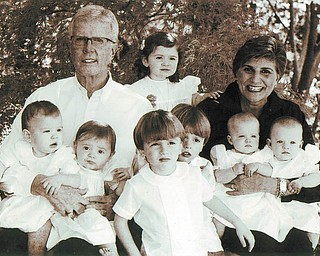 Jay and Joanne (Cercone) Pounds are the grandparents of seven: twin boys Mack and Hamilton Dixon, Copeland Dixon, twin girls Emma and Mary Harter Pounds, and Emory and Parish Pounds. All live in Alabama. Great-grandparents are Ange and Angelo Cercone of Youngstown.