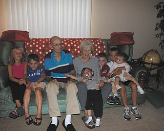 Dick and Alice Dorman of Youngstown are with their great-grandchildren: Christian and Alexis Badolato of Hegenheim, France; Peter and Michael Koulianos of Campbell; and Andrew and Maggie Freeman of Farmington Hills, Mich. Photo was sent in by grandparents Jim and Sandy Dorman of Boardman.