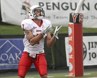 JESSICA M. KANALAS | THE VINDICATOR..Illinois State's safety Ben Ericksen returns a kickoff for 19 yards to the Illinois' 20 yard line in the third quarter against Youngstown State...-30