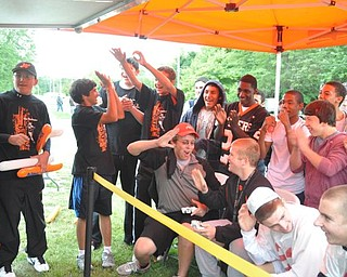 The Blitz Tailgate Party at Howland High School before the Canfield vs. Howland game on Friday, Sept. 16, 2011.
