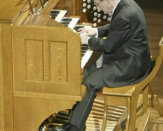 William d Lewis the Vindicator David Higgs plays the restored organ at Stambaugh Auditorium 9-18-11.