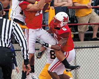Miami safety Anthony Kokal, shown here intercepting against Kent State in 2010, will try to help the RedHawks win their second straight MAC title this fall.