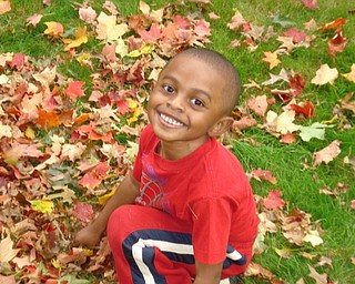 Christian Woodberry smiles in the yard of his home in Youngstown. T. Sharon Woodberry sent in the photo.