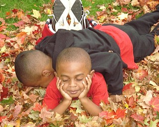 Stevie and Christian Woodberry savor the moment on a warm fall day at their Youngstown home. Photo submitted by T. Sharon Woodberry.