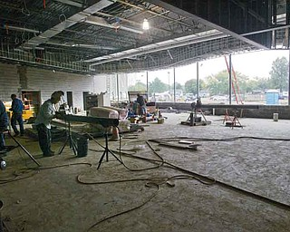 Construction is under way for the Hubbard Local School District's new middle school. The building's energy-efficient features will save the district money.