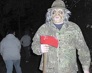 The Haunted Trail at Craig Beach in Lake Milton State Park will begin tonight, weather permitting. Last year on the trail, Sam Bartholomew dressed to scare walkers.