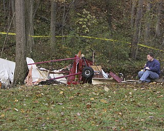 ROBERT K. YOSAY | THE VINDICATOR ||  Jeffrey Jardine  who lives near the site of the plane crash and is a friend  of the pilot said he saw the plane and knew his friend was having trouble. The experimental  1990 Pieton Pole Air Camper crashed soon after takeoff as neighbors heard the planes engine sputter.